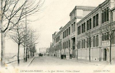 anciennes cartes postale de l'usine de levallois à l'époque de clément bayard