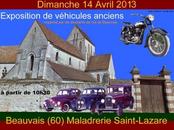 Rassemblement Véhicules anciens Maladrerie Saint Lazare de Beauvais 2013   : 14 avril 2013