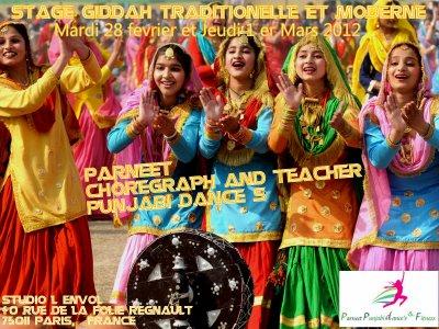 Stage GIDDAH TRADITIONNELLE avec Parneet Les 28 fevrier et 1er Mars 2012 !!!!!!