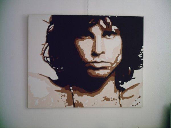 Peinture sur toile Jim Morrison