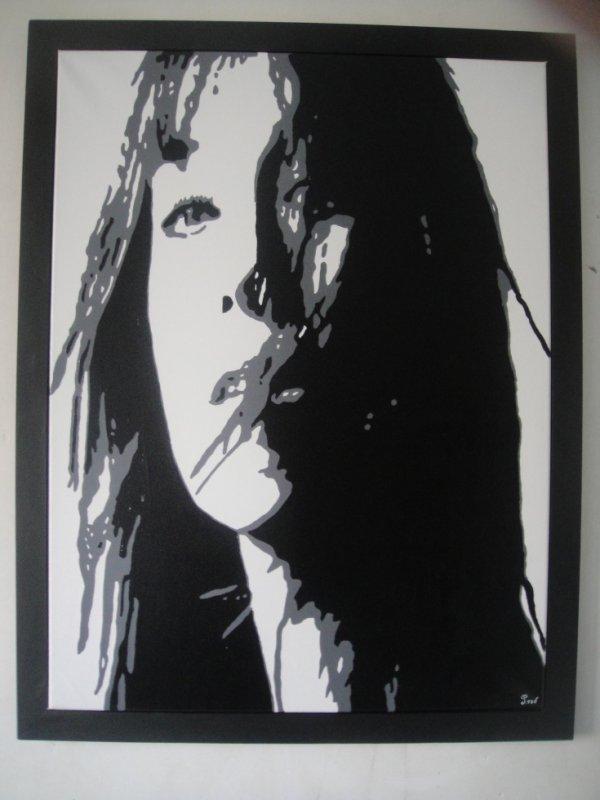 Peinture sur toile Charlotte Gainsbourg