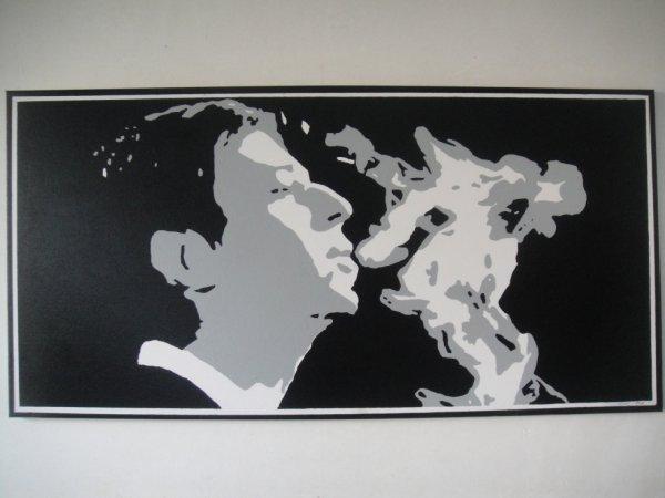 Peinture sur toile Serge Gainsbourg
