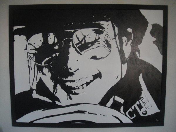 Peinture sur toile Mickael Jackson