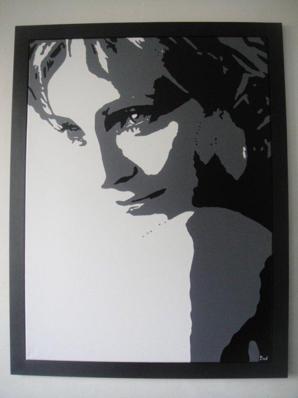 Peinture sur toile Patricia Kaas