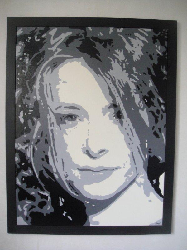Peinture sur toile Mylène Farmer