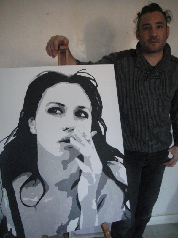 Peinture sur toile Monica Bellucci