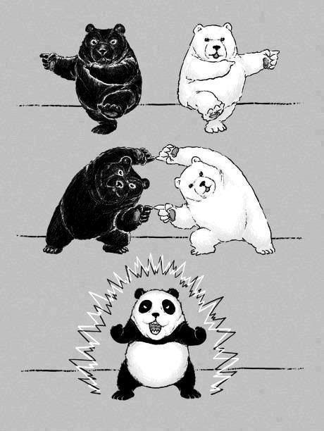 l'origine du panda