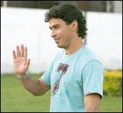 Alex Dias, avant la demi-finale retour du Goiânão dimanche 19 avril 2009.