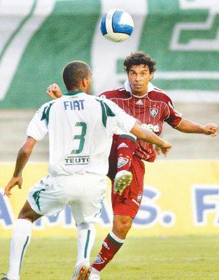 Avec Fluminense face à son ancien club de Goias.