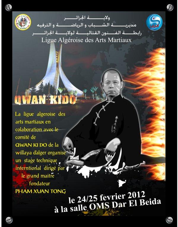 Affiche su stage international diriger par le grand maitre fondateur PHAM XUAN TONG