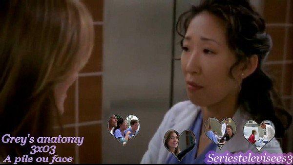 Épisode 3x03 Saison 3 A pile ou face Grey's anatomy