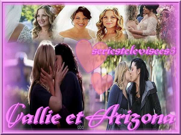 Présentation du couple Callie et Arizona (Grey's anatomy)