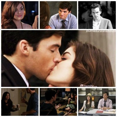 Ezra and Aria: the cutest couple ever seen.. ♥