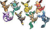 Famille d evoli au complet les pokemon j adore - Famille evoli pokemon ...