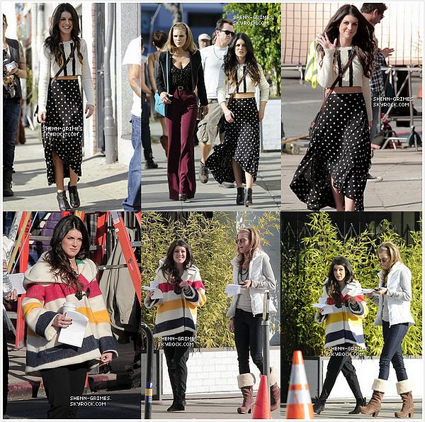 _ 06/01/12 : Notre belle Shenae était sur le tournage de 90210. Comment trouvez-vous la tenue ? _