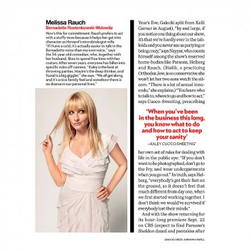 "Kaley Cuoco dans le magazine ""People Magazine"" 29 septembre 2014"