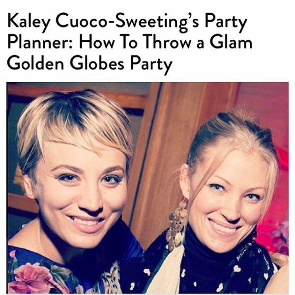 Le 09/01: Kaley Cuoco a posté une photo sur Instagram