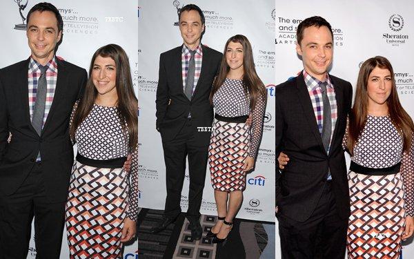 """19.08.13: Jim et Mayim étaient au """" Academy Of Television Arts & Sciences"""" à Universal City"""