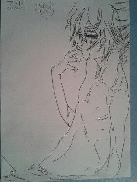 Dessin: Len Kagamine (je croie que c'est Len des Vocaloid mais je suis pas sûr)