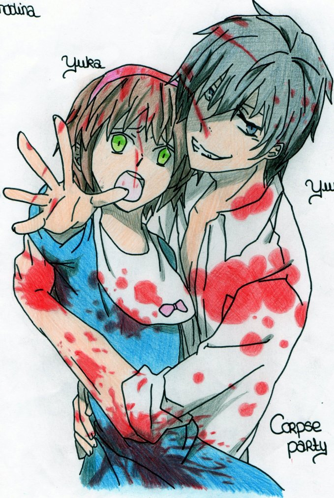 Dessin: Yuuya and Yuka de CORPSE PARTY! 8D