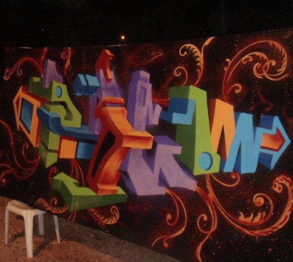 Graffiti Marocain PRG en 3d