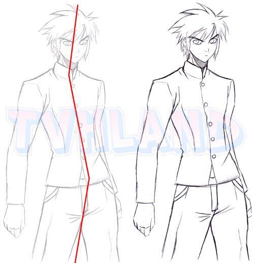 Favorit Apprendre a dessiner une posture masculine - Blog de Dessiner-le-manga YZ52