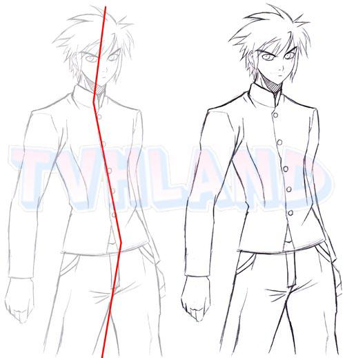 Assez Apprendre a dessiner une posture masculine - Blog de Dessiner-le-manga SH21