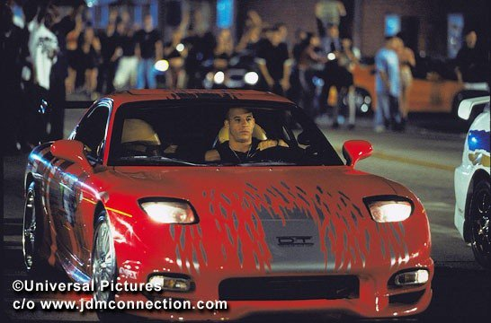 LA MAZDA RX7 DE VIN DIESSEL DANS THE FAST AND FURIOUS