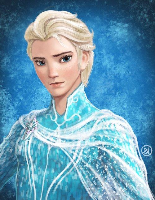 Et si Elsa et Anna étaient... des hommes! ^^