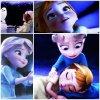 """COMPOSITION: """"Enfance d'Elsa et Anna"""" :)"""