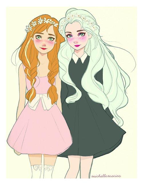 Elsa et Anna contemporaines... ^^
