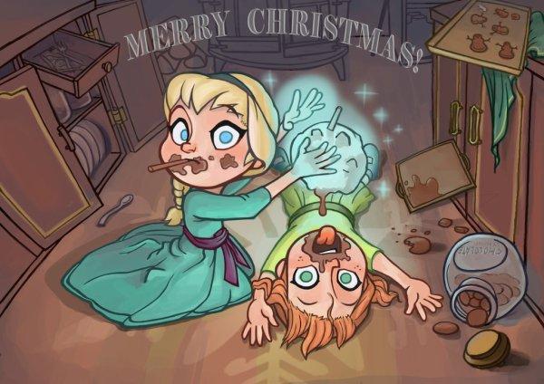 Anna et Elsa enfants... :)