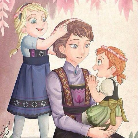 Anna et Elsa petites... ♡
