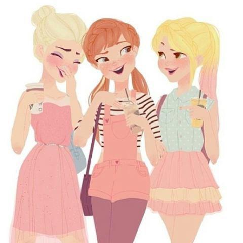 Elsa, Anna et Raiponce... ^^