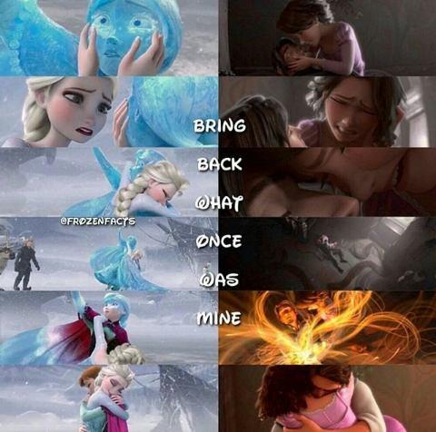 Raiponce et La Reine des Neiges ont la même fin...