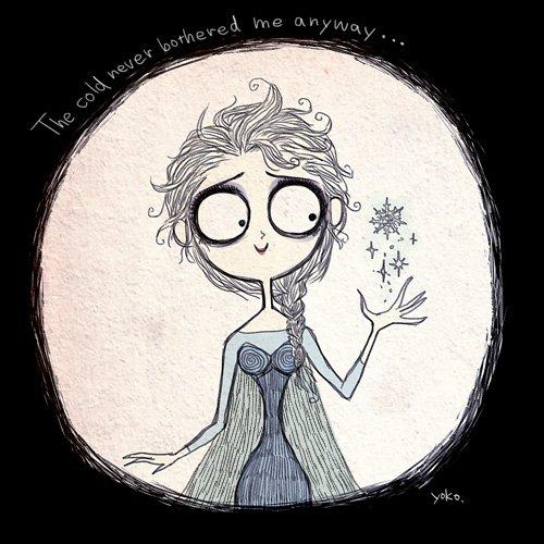La Reine des Neiges version Tim Burton..