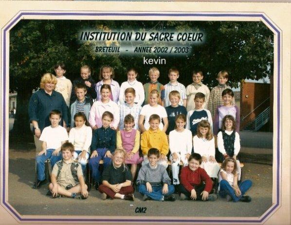 une foto de classe de kevin