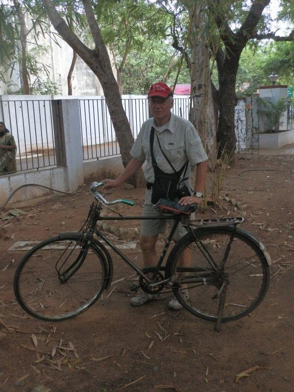 Le beau vélo de Jean-Marie en Inde .