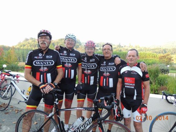 Amicalistes en stage vélo Province du Hainaut à St Donat