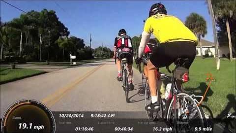 Le trésorier de l'ACB à vélo en Floride !