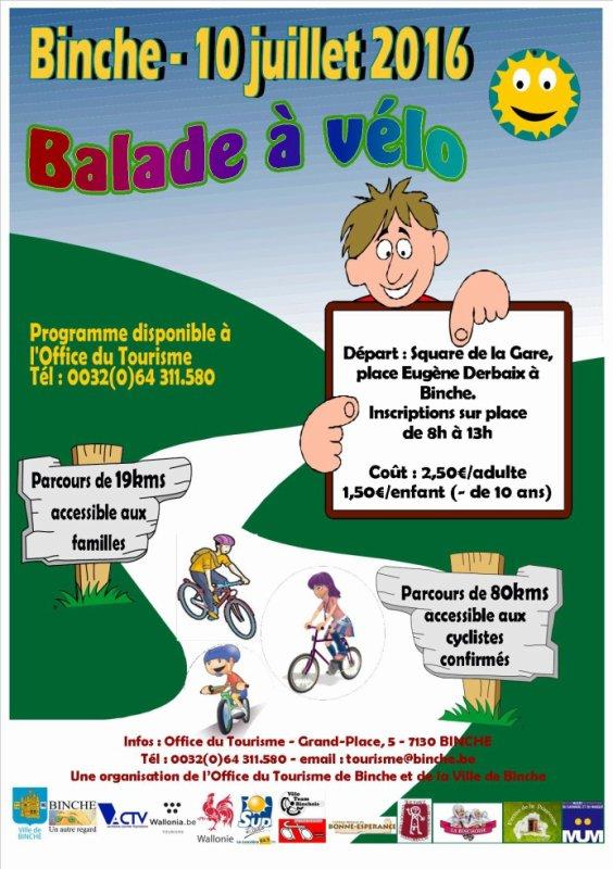 Randonnée cycliste à Binche