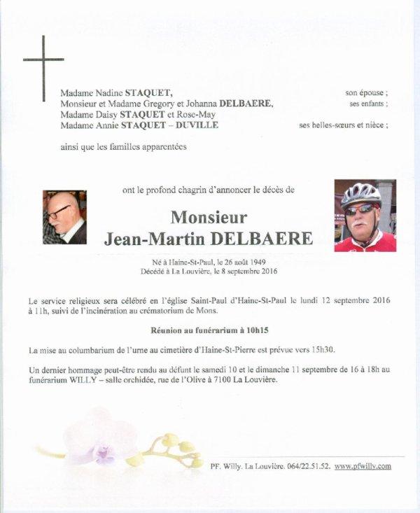 Déces de notre ami Jean-Martin