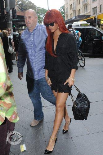 Rihanna fait du shopping à Sydney