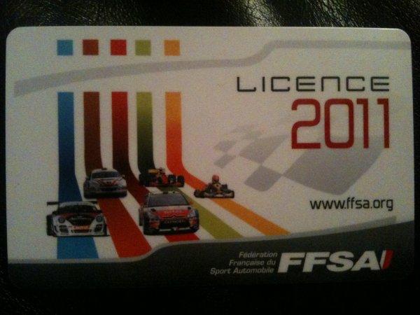 La licence 2011 est arrivée, en plus cette année c'est une nationale!