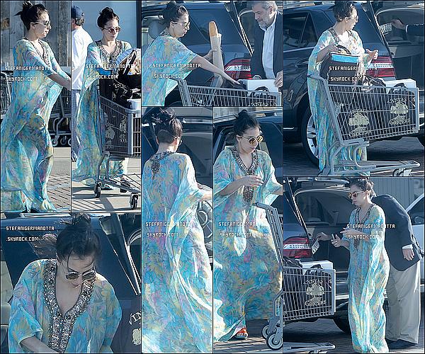 29/11/14 : Lady Gaga a été photographiée faisant ses courses avec son père Joseph dans Malibu.