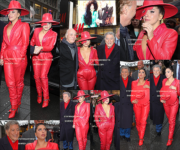 03/12/14 : Lady Gaga s'est rendue à l'émission Good Morning America dans la ville de New York.