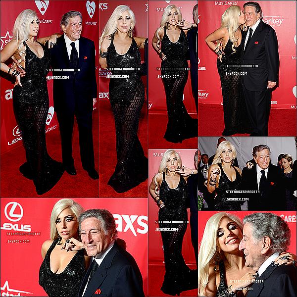 06/02/15 : Lady Gaga & Tony Bennett étaient allés au gala nommé « MusiCares » des Grammys.