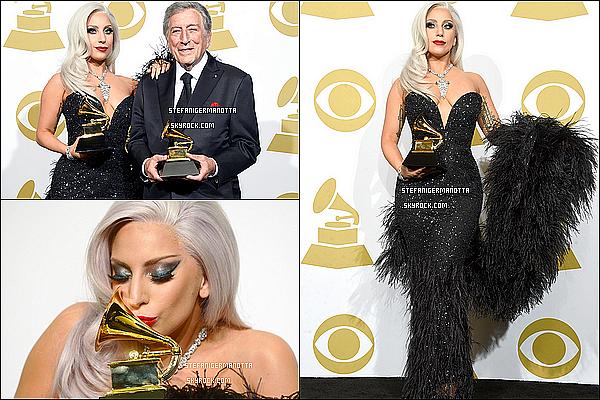 08/02/15 : Lady Gaga était alors aux Grammy Awards 2015, elle a d'ailleurs gagné un grammy.