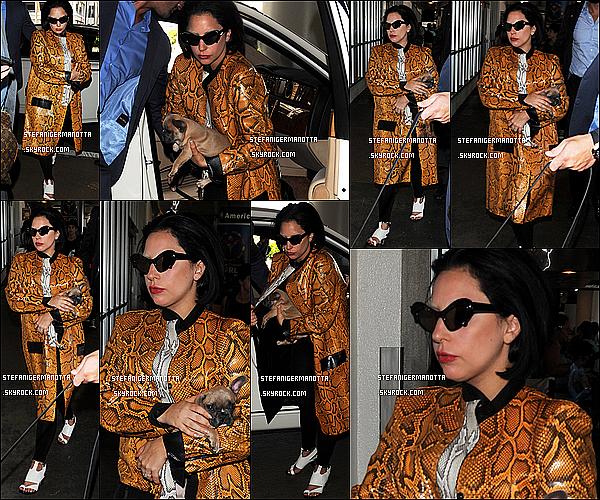20/04/15 : Lady Gaga a été vue, une nouvelle fois, à l'aéroport « LAX » situé à Los Angeles, CA.