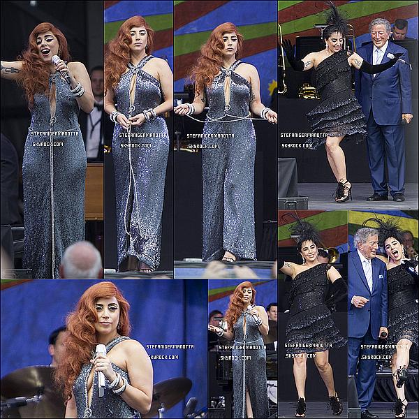 26/04/15 : Lady Gaga était au Festival de Jazz de Nouvelle Orléans dans la cadre du CTCT.